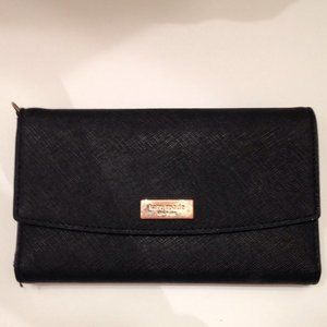 KATE SPADE BLACK SAFFIANO LEATHER PHONE WALLET